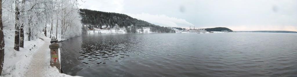 Кликабельная панорама пруда